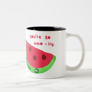 Emoのメロンのマグ ツートーンマグカップ