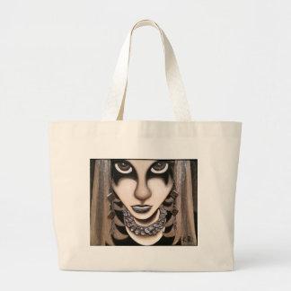 Emoの女の子 ラージトートバッグ