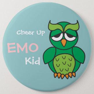 Emoの子供のフクロウを元気づけて下さい 缶バッジ