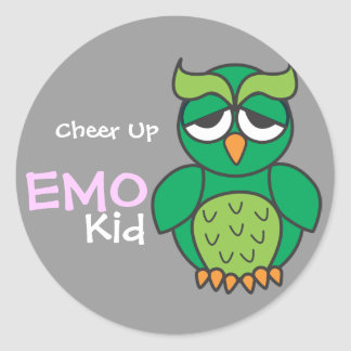 Emoの子供を元気づけて下さい ラウンドシール
