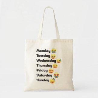 Emojiおもしろいな曜日は戦闘状況表示板に直面します トートバッグ