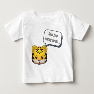 - Emojiから遠くにな1つの動物園 ベビーTシャツ