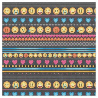 Emojiのかわいいストライプな生地 ファブリック