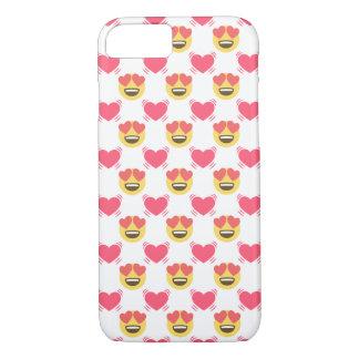 Emojiのかわいいユニコーンおよびハートパターン iPhone 8/7ケース
