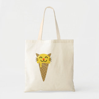 Emojiのアイスクリーム猫 トートバッグ