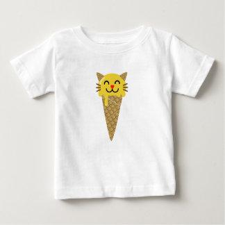 Emojiのアイスクリーム猫 ベビーTシャツ