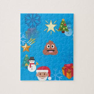 emojiのウンチのクリスマス ジグソーパズル