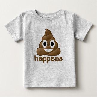 Emojiのウンチは起こります ベビーTシャツ