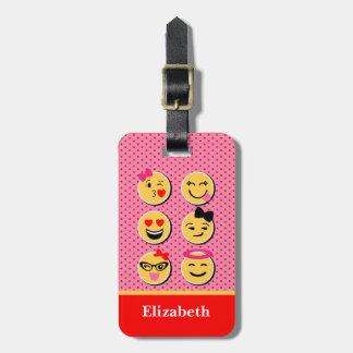 emojiのキャラクターが付いているおもしろいな荷物のラベル ラゲッジタグ