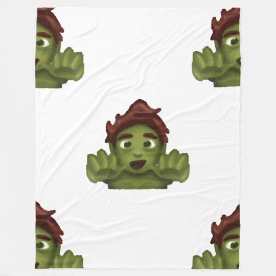 emojiのゾンビの人毛布 フリースブランケット