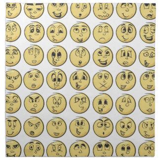 Emojiのナプキンのレトロの漫画本のスタイル ナプキンクロス
