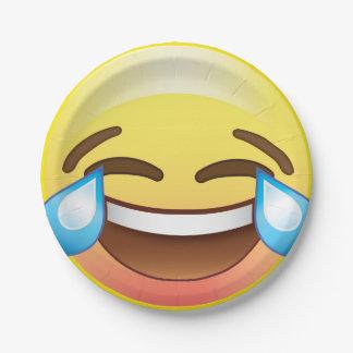 Emojiのパーティのプレートを笑わせるLOLsの叫ぶ破損 ペーパープレート