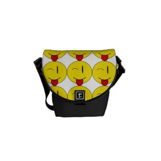 Emojiの人力車のメッセンジャーバッグのまばたき クーリエバッグ