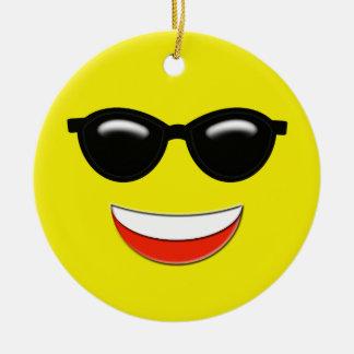 Emojiの冷たいカスタム セラミックオーナメント