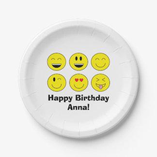 Emojiの名前入りな紙皿 ペーパープレート