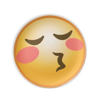 Emojiの接吻 磁器プレート