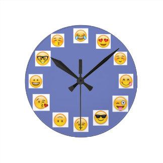 emojiの時計 ラウンド壁時計