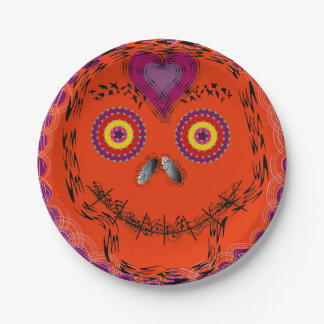 Emojiの死んだ紙皿のハロウィンか日 ペーパープレート