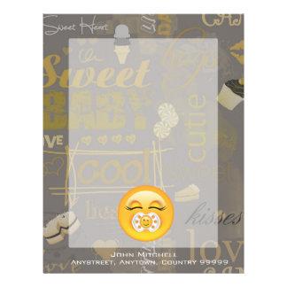 Emojiの甘いベビーID231 レターヘッド