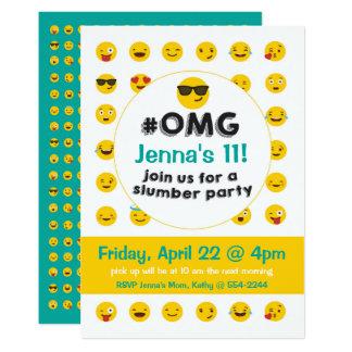 Emojiの眠りのパーティの招待状 カード
