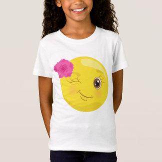 Emojiの花のTシャツのまばたき Tシャツ
