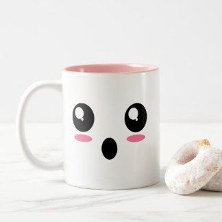 """""""Emojiの衝撃を与えられた""""マグ ツートーンマグカップ"""