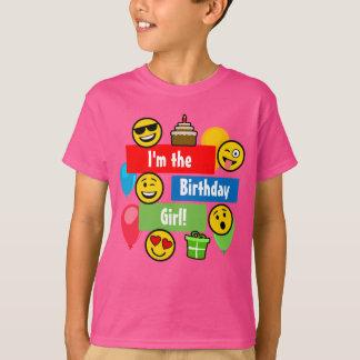 Emojiの誕生日の女の子 Tシャツ