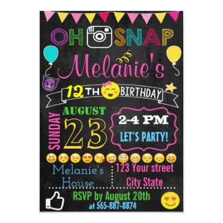 Emojiの誕生日の招待カード カード