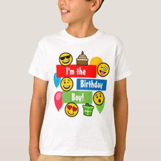 Emojiの誕生日の男の子 Tシャツ