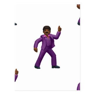 Emojiの踊りの人 ポストカード