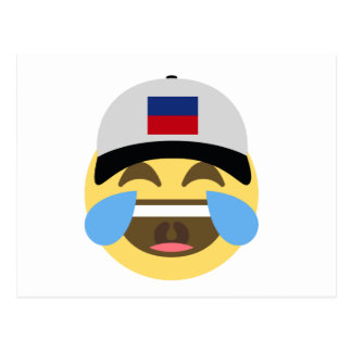 Emojiを笑わせるハイチの帽子 葉書き