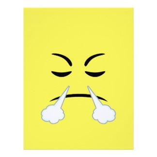 Emojiを蒸気を発すること レターヘッド