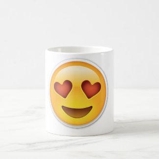 Emoji愛ハートの顔のマグ コーヒーマグカップ