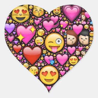 Emoji芸術によってあなたの愛および愛情を示して下さい ハートシール
