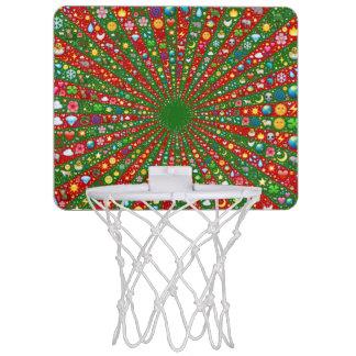 Emoji芸術の収斂光線の小型バスケットボール ミニバスケットボールゴール