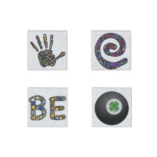 Emoji芸術の磁石、本当の会話部分 ストーンマグネット