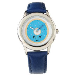 Emoji青いドーナツ腕時計 腕時計