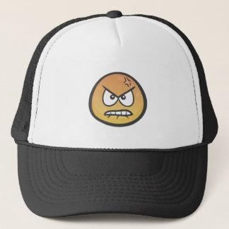Emoji: ふくれっ面をする顔を怒って下さい キャップ