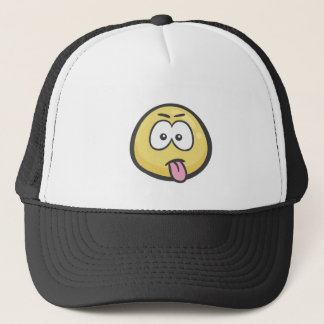 Emoji: スタックした舌を搭載する顔 キャップ