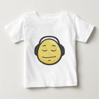 Emoji: ヘッドホーンの顔 ベビーTシャツ