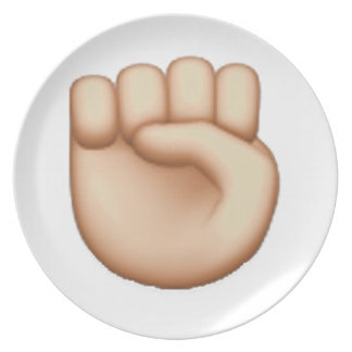 Emoji -上げられた握りこぶし プレート