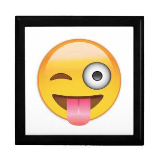 Emoji -舌を搭載するスマイリーフェイス ギフトボックス