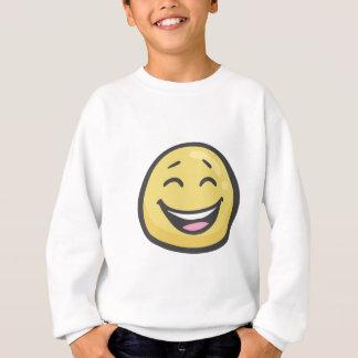 Emoji: 開いた口が付いている微笑の顔及び微笑の目 スウェットシャツ