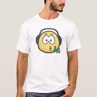 Emoji: 音楽顔 tシャツ