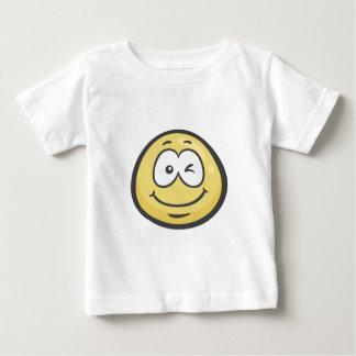 Emoji: 顔のまばたき ベビーTシャツ