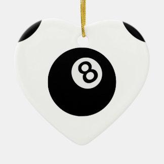 emoji 8の球 セラミックオーナメント