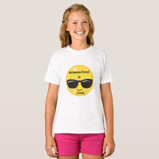 Emoji Homeschoolはクールです Tシャツ