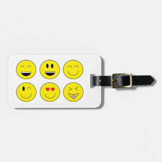 """""""Emojis""""の荷物のラベル ラゲッジタグ"""