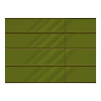 Emrald nの金ゴールドの組合せの豊富なサテンの一見 12.7 x 17.8 インビテーションカード