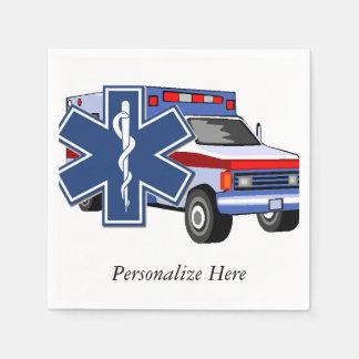 EMSの救急車 スタンダードカクテルナプキン